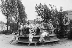 Merry Go Round Playground 4x6 Reprint Of 1910s Old Photo