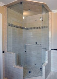 Angle Shower Traditional Bathroom And Frameless Glass Shower Doors