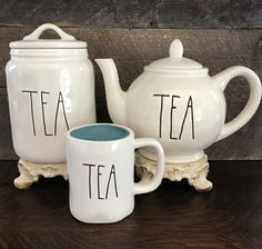 "New Rae Dunn by Magenta ""TEA"" Set"