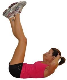The Vertical Leg Crunch effectively engages the obliques and rectus abdominis. This exercise will add a new level of intensity to your workout!
