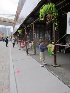 Seats, lights, planters etc. Turn NYC's Sidewalk Scaffolds Into Social Spaces (kickstarter by Bland Hoke and Howard Chambers)