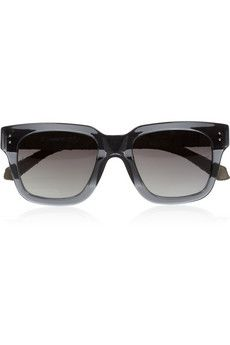 Linda Farrow Square-frame acetate and watersnake sunglasses | NET-A-PORTER