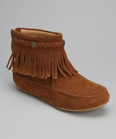 Take a look at this Tan Fringe Ankle Boot by Shoes of Soul on #zulily today!