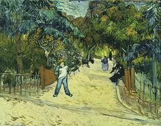 Entrance to the Public Gardens in Arles: Painted in 1888, the thick, haphazard brushstrokes seen so often in van Gogh's works are evident here, especially in the sky. While no doubt a tranquil scene, the dynamic style of the surrounding walkway and shadowy visitors hint at the feelings within van Gogh's troubled mind. This is not one of van Gogh's best works, but the mastery of place, emotion, and dynamism shows just how talented the Dutchman was.