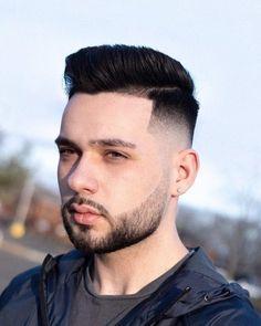 Top 25 Best Gentleman Haircut Styles-Side Part with Beard Classic Mens Haircut, Classic Mens Hairstyles, Cool Mens Haircuts, Cool Hairstyles For Men, Men's Haircuts, Side Part Pompadour, Pompadour Style, Damp Hair Styles, Hair And Beard Styles