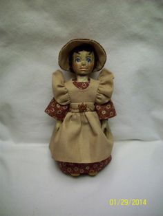 This is a 6 1/4 inch Hitty doll that I carved from an antique table leg.