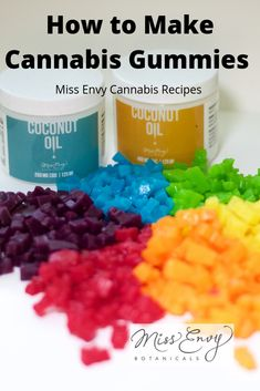 Cannabis gummies are loved in the cannabis community and with Miss Envy you can easily make them at home. For pride we made every colour in the rainbow. Weed Recipes, Marijuana Recipes, Cannabis Edibles, Cannabis Plant, Envy, Pride, Snacks, Colour, Butter Buds