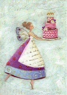 Happy Birthday ♛ by VoyageVisuel Happy Birthday Messages, Happy Birthday Quotes, Happy Birthday Images, Happy Birthday Greetings, Birthday Pictures, Art Carte, Art Et Illustration, Happy B Day, Whimsical Art