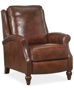 Leeah leather recliner at Macy's