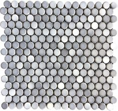 Shades of Gray Penny Gloss Porcelain Mosaic Floor and Wall Tile