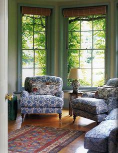 Injigo (chair left), Matisse (right chair), Petronella (pillows), Wabi-Sabi (foreground sofa)