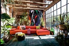 Fantastic Upholstered Furniture by Moroso ottoman sofa patricia urquiola room My Living Room, Living Room Interior, Home And Living, Living Room Decor, Living Spaces, Cozy Living, Modern Living, Patricia Urquiola, Interior Exterior