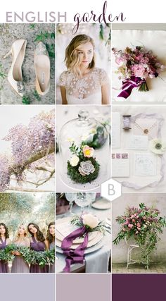 ENGLISH GARDEN wedding inspiration board on B.Loved Weddings blog created by Catharine Noble.