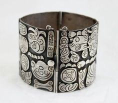Vintage Mexico Sterling Silver Bracelet circa early 1940s