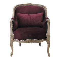 Sillón de salón violeta - Montpensier