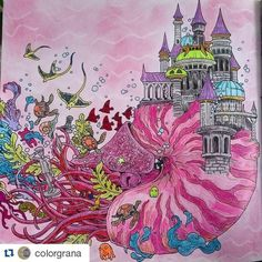 #Repost @colorgrana with @repostapp ・・・ #life #imagimorphia 2 #kerbyrosanes #zifflin #pink #doodles #animorphia