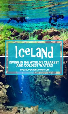 When in Iceland, why not dive between two continental plates in the world's clearest waters? http://toeuropeandbeyond.com/facing-the-notoriously-cold-icelandic-waters-scuba-diving-snorkelling-in-silfra/ #Iceland #travel