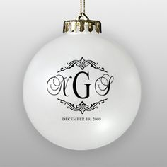@Amy- ok, green ornaments with gold paint pen, DIY!  But I love the monogram, I think it would be fun to add a rhinestone G for your married name