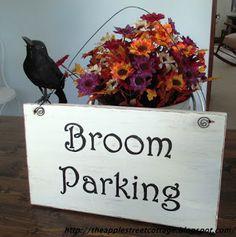 The Apple Street Cottage: Broom Parking Sign