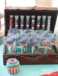 Cake pops at a Nautical Mickey Mouse Party #nautical #mickeymouse