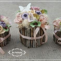 Tavaszi púderes szett  virágbox asztaldísz  (fabkata) - Meska.hu Diy, Do It Yourself, Bricolage, Handyman Projects, Diys, Crafting