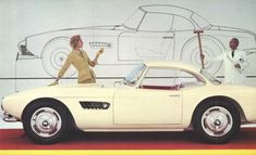 BMW 507  a roadster produced by BMW from 1956 to 1959. Initially intended to be exported to the United States at a rate of thousands per year, it ended up being too expensive, resulting in a total production figure of 252 cars and heavy losses for BMW.