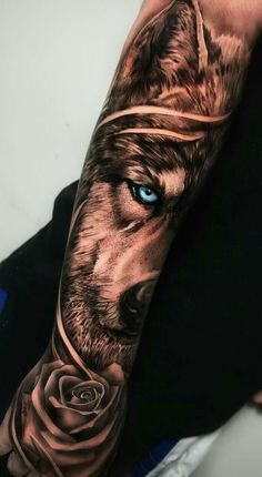 50 Of The Most Beautiful Wolf Tattoo Designs The Internet Has Ever Seen - beaut. - 50 Of The Most Beautiful Wolf Tattoo Designs The Internet Has Ever Seen – beautiful wolf tattoo - Wolf Tattoo Forearm, Forarm Tattoos, Forearm Sleeve Tattoos, Best Sleeve Tattoos, Tattoo Sleeve Designs, Tattoo Designs Men, Tattoo Wolf, Best Forearm Tattoos, Realistic Tattoo Sleeve