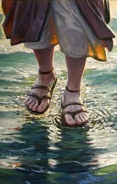 Image discovered by Find images and videos about god, jesus and Christ on We Heart It - the app to get lost in what you love. Akiane Kramarik Paintings, Image Jesus, Jesus Walk On Water, Jesus Painting, Jesus Christus, Prophetic Art, Biblical Art, Jesus Pictures, Bible Pictures