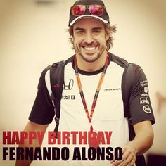 FELIZ CUMPLEAÑOS FERNANDO ALONSO HAPPY BIRTHDAY  #fernandoalonso #happyday Get the look at FourSunnies.com