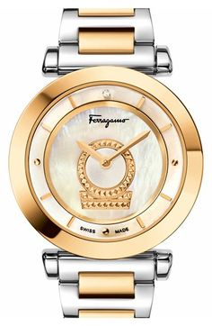 Salvatore Ferragamo 'Minuetto' Bracelet Watch, 36mm available at #Nordstrom