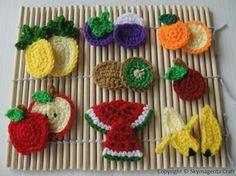Crochet Pattern  FRUIT APPLIQUE 1  PDF by skymagenta on Etsy, $5.99