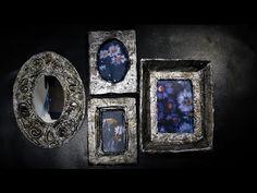 Jak zrobić ramki o wygladzie starego srebra - Pomysły plastyczne dla każdego - YouTube