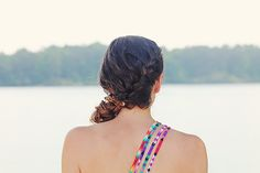 2 Beach-Ready Braid Tutorials | eHow Style - the link states these are tested to hold during swimming hairstyles for long hair.