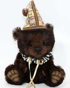 "raeshanks:  ""Growley"" 8-inch clown bear (Flickr)"