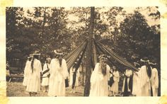 mitchell home school girls around may pole, circa 1920s... HAPPY MAY DAY!