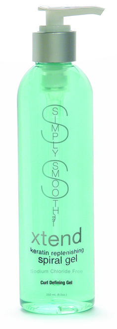 Simply Smooth xtend keratin replenishing spiral gel is a botanically blended, keratin infused, weightless and non-flaking spiral defining gel. This exceptional formula rejuvenates limp and lifeless curls!