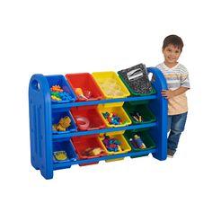 ELR-0216: 3-Tier Storage Organizer With Bins, Blue