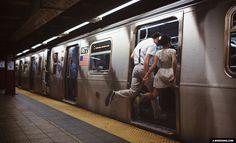new york city engagement photos nyc subway levitation