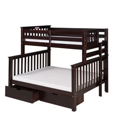 Another great find on #zulily! Cappuccino Mission Twin/Full Tall Bunk Bed & Drawers #zulilyfinds