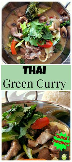 Thai Green Curry. This recipe is easy, no zillion ingredients, experience a fresh and beautiful flavour.   Lovefoodies.com