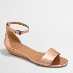 61d22ab0c402 Crackle demi-wedge sandals   FactoryWomen Sandals