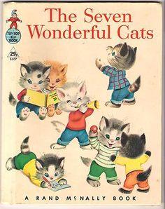 Elf Book ~ THE SEVEN WONDERFUL CATS   eBay c1956