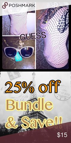 FREE New Sunglasses & matching GUESS womens top FREE New Sunglasses & matching GUESS womens top Guess Tops Blouses