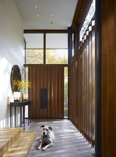 Great foyer! Lake Shore Drive House by Wheeler Kearns Architects http://wkarch.com/  (Click on photo for high-res. image.) More photos found here: http://www.contemporist.com/2012/07/24/lake-shore-drive-house-by-wheeler-kearns-architects/