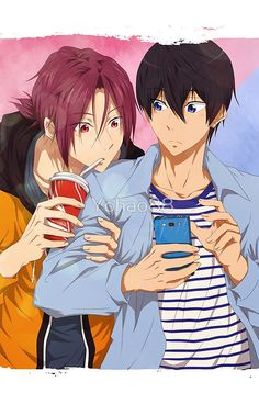 Haruka Nanase x Rin Matsuoka / Free! 5 Anime, Free Anime, Haikyuu Anime, Free Eternal Summer, Otaku, Rin Matsuoka, Haruka Nanase, Makoharu, Nagisa Free