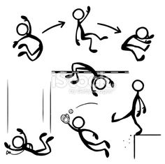 Image of Stick Figure Leaping from iStockphoto #11159913