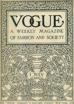 Vogue cover from 1909