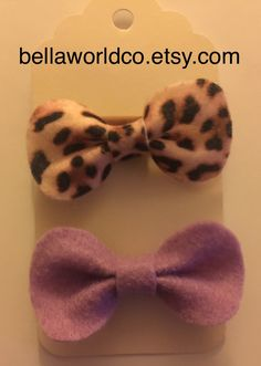 Felt bow headbands @BellaworldCo.etsy.com
