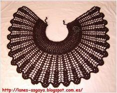 TOQUILLA CALADA A CROCHET Crochet Baby Poncho, Crochet Cape, Crochet Cross, Crochet Stitches Patterns, Knitting Patterns, Crochet Skull, Diy Crafts Crochet, Cheap Flower Girl Dresses, Vintage Crochet