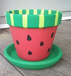 Hey, I found this really awesome Etsy listing at https://www.etsy.com/listing/196178636/flower-pot-watermelon-style-6-with